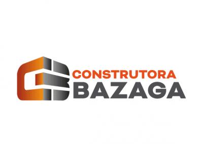 Logotipo versão horizontall construtora bazaga