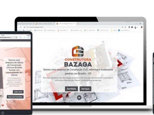 Site da Construtora Bazaga